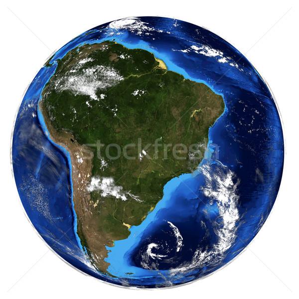 Föld elemek kép térkép tenger világ Stock fotó © cherezoff