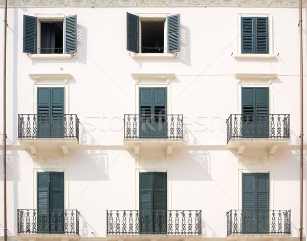House with balconies Stock photo © cherezoff