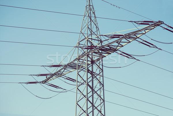 электрических Blue Sky солнце Сток-фото © cherezoff