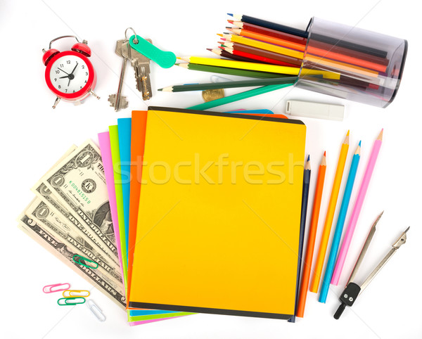 Copybooks with keys and office stuff Stock photo © cherezoff