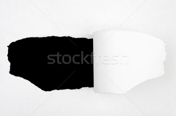 Black hole in blank paper Stock photo © cherezoff