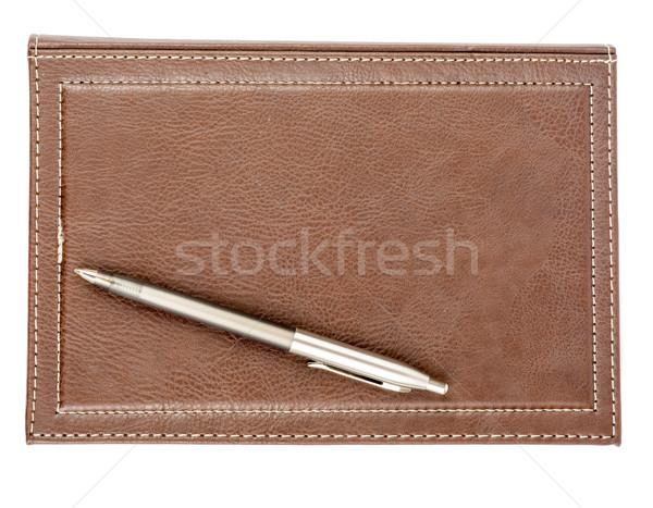 Bőr minden nap tervező toll izolált fehér Stock fotó © cherezoff