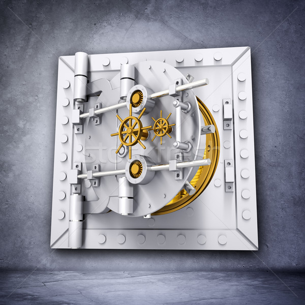 Metallic bank vault door  Stock photo © cherezoff