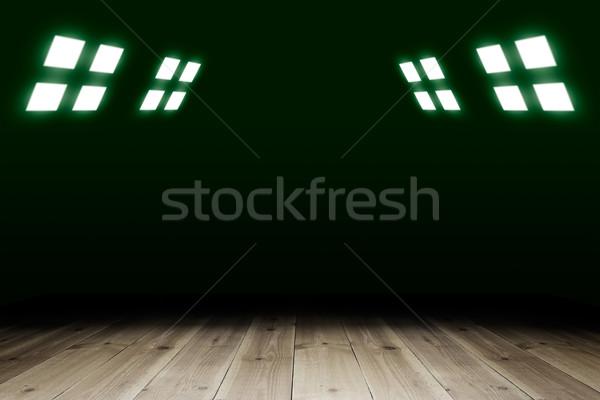 スポットライト 古い テンプレート デザイン 木材 ストックフォト © cherezoff