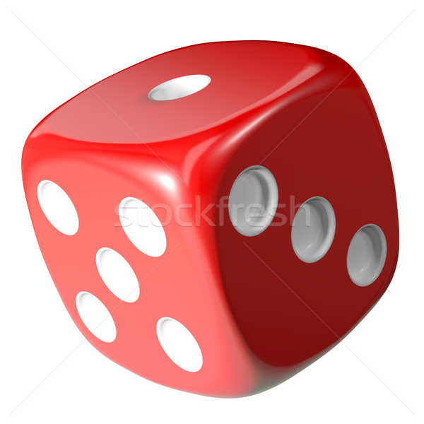 Red dice isolated on white background Stock photo © cherezoff
