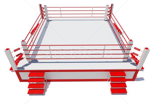 Boxing anello isolato bianco 3D Foto d'archivio © cherezoff