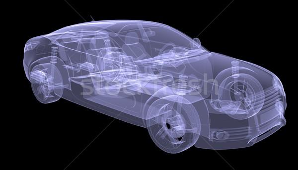 Stock photo: X-ray concept car