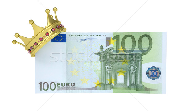 One hundred euro with the crown Stock photo © cherezoff