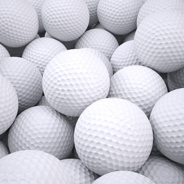 Background is out of golf balls Stock photo © cherezoff