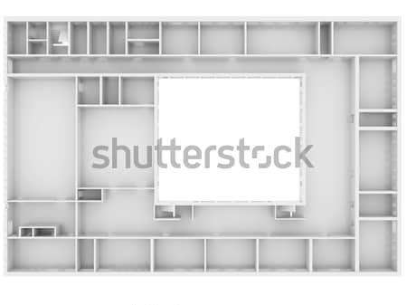 Résumé blanche étage haut vue isolé Photo stock © cherezoff