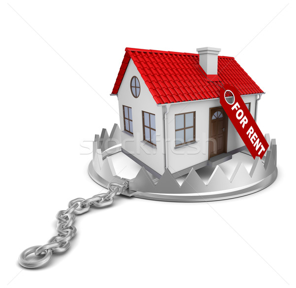 House for rent in bear trap Stock photo © cherezoff