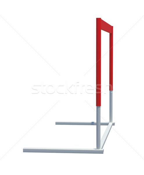 Treadmill barrier on white Stock photo © cherezoff