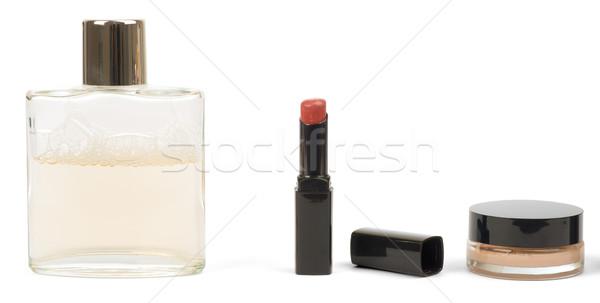 Lipstick, powder and perfume  Stock photo © cherezoff