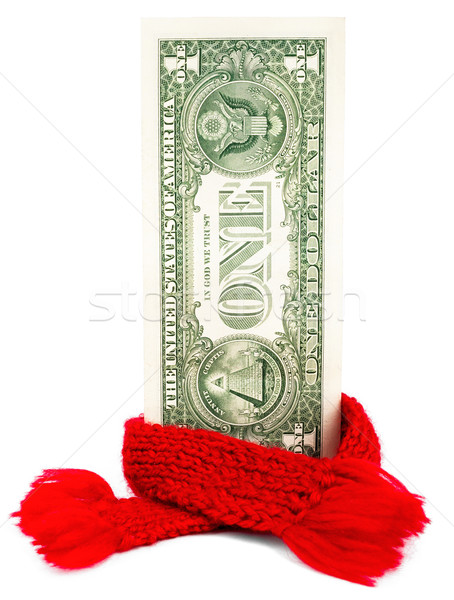 One dollar banknote with red scarf Stock photo © cherezoff