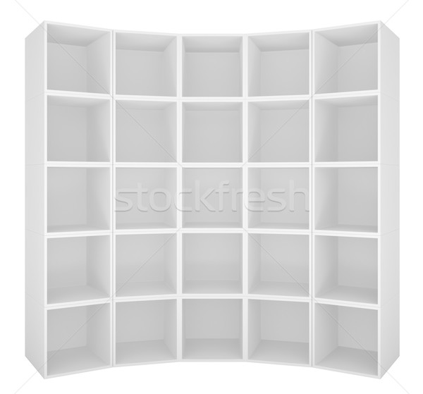 пусто книжная полка белый 3d иллюстрации бизнеса аннотация Сток-фото © cherezoff