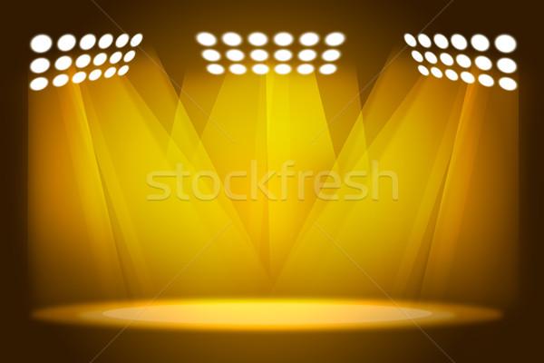 Előadás citromsárga belső buli absztrakt terv Stock fotó © cherezoff
