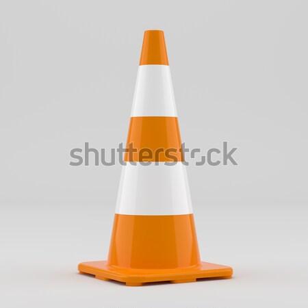 Isolated traffic cone Stock photo © cherezoff
