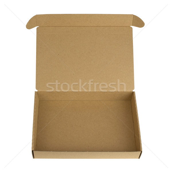 Open cardboard box with a lid Stock photo © cherezoff