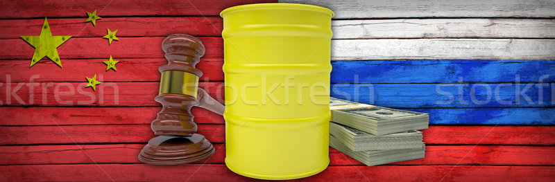 Concept of gas contract between Russia and China Stock photo © cherezoff