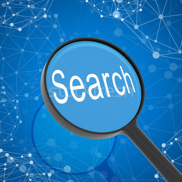 Magnifying glass looking Search Stock photo © cherezoff