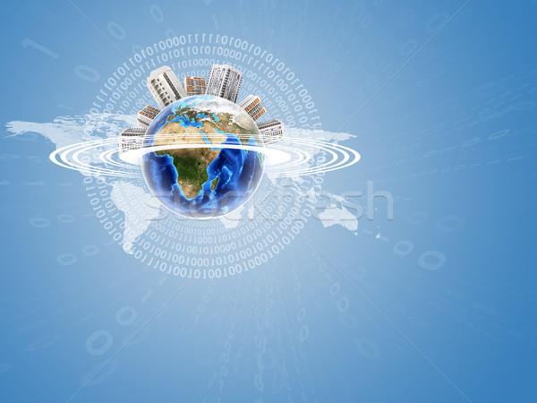 地球 建物 世界地図 背景 画像 ストックフォト © cherezoff