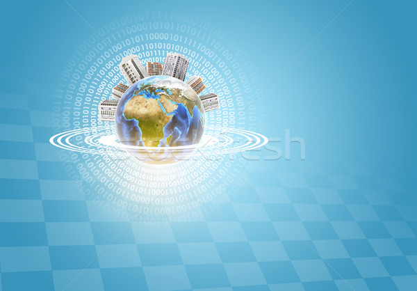Earth with buildings Stock photo © cherezoff