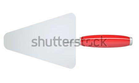 Metal czerwony uchwyt odizolowany biały budowy Zdjęcia stock © cherezoff