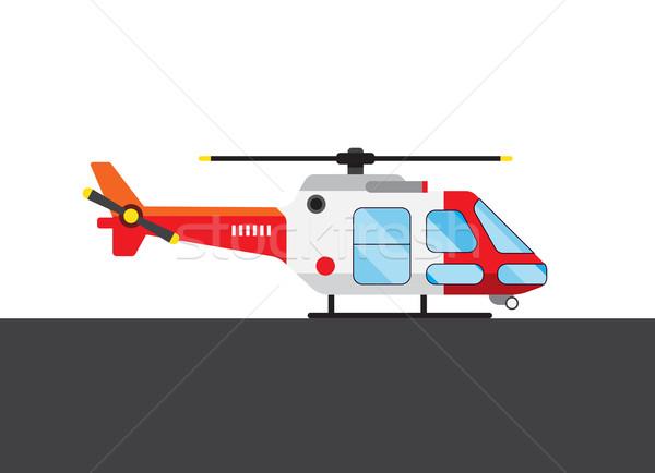 Colorido helicóptero quadro branco cinza Foto stock © cherezoff
