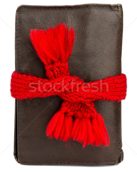 Wallet wearing red scarf Stock photo © cherezoff