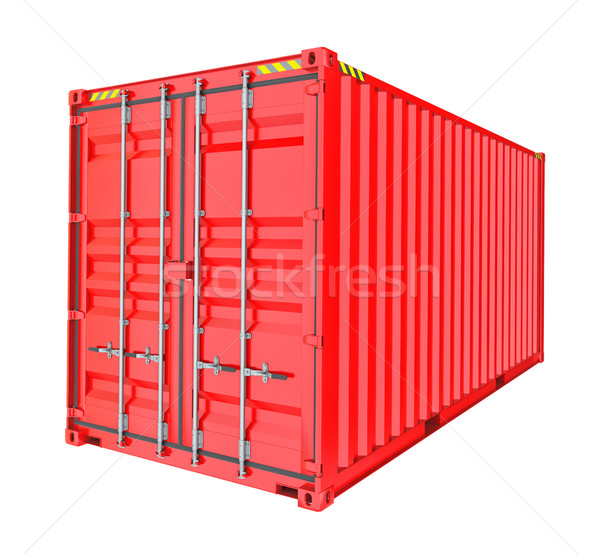 Red Cargo Container. Isoalted Stock photo © cherezoff