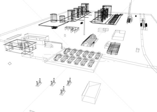 Industrial building Stock photo © cherezoff