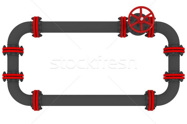Banner pijpen geïsoleerd geven witte achtergrond Stockfoto © cherezoff