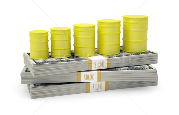 Gas stand pack dollari bianco finanziare Foto d'archivio © cherezoff