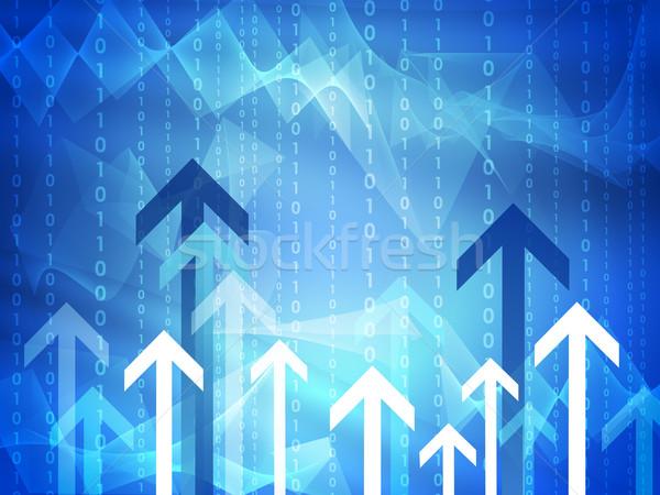 Glühend Pfeile Wellen abstrakten Technologie Hintergrund Stock foto © cherezoff