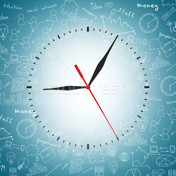 Clock face without numbers Stock photo © cherezoff