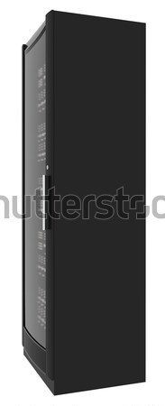 Metal locker with handle on white, close up view Stock photo © cherezoff