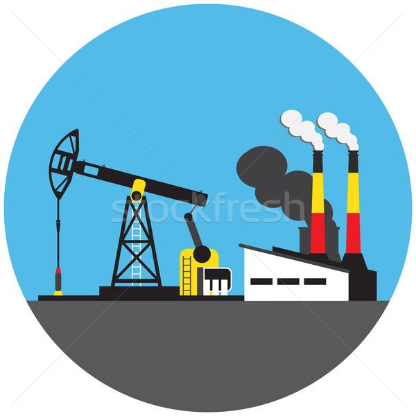 Colorful oil derrick picture Stock photo © cherezoff