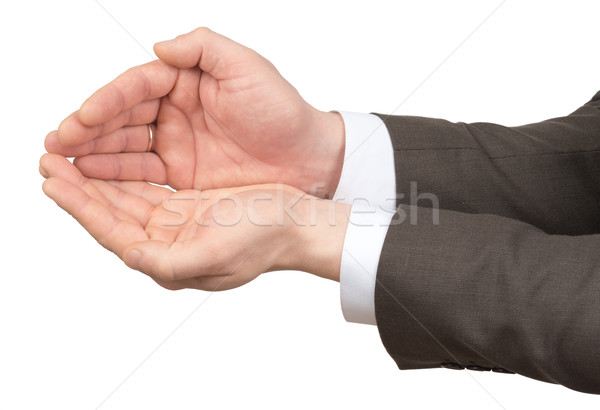 Businessmans hands with empty space Stock photo © cherezoff