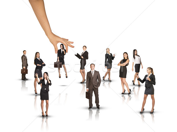 Zestaw ludzi biznesu ogromny strony biały odizolowany Zdjęcia stock © cherezoff