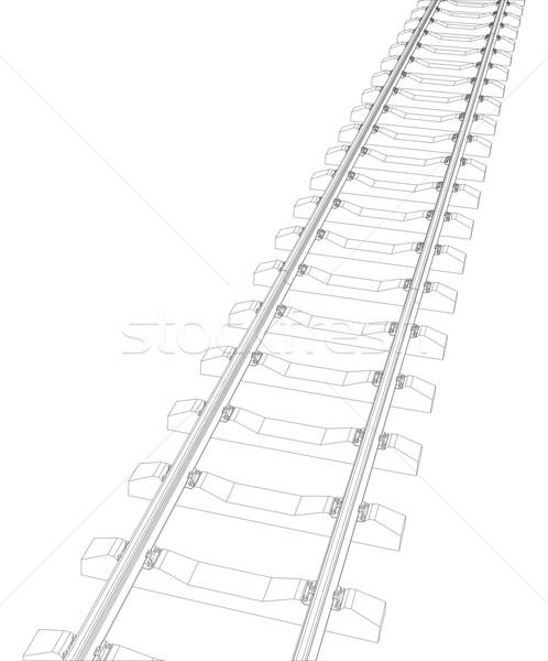 Railway on white Stock photo © cherezoff