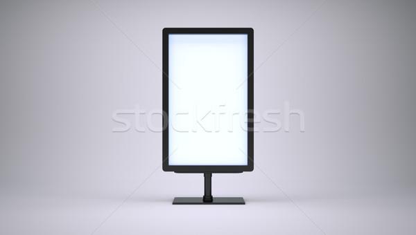 Bandeira tela branco 3D quadro de avisos Foto stock © cherezoff
