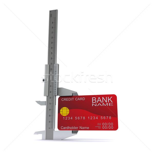 Carta di credito simbolo misurazione carte di credito costruzione tecnologia Foto d'archivio © cherezoff