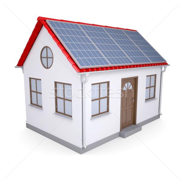 House with solar panels Stock photo © cherezoff