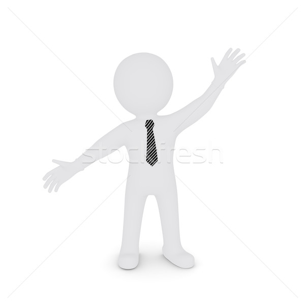 The white man spread his hands apart on the diagonal Stock photo © cherezoff