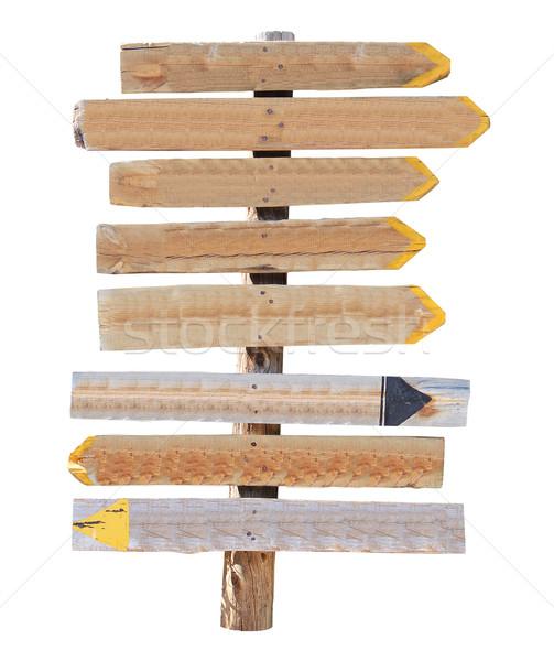 Wooden pointer unmarked Stock photo © cherezoff