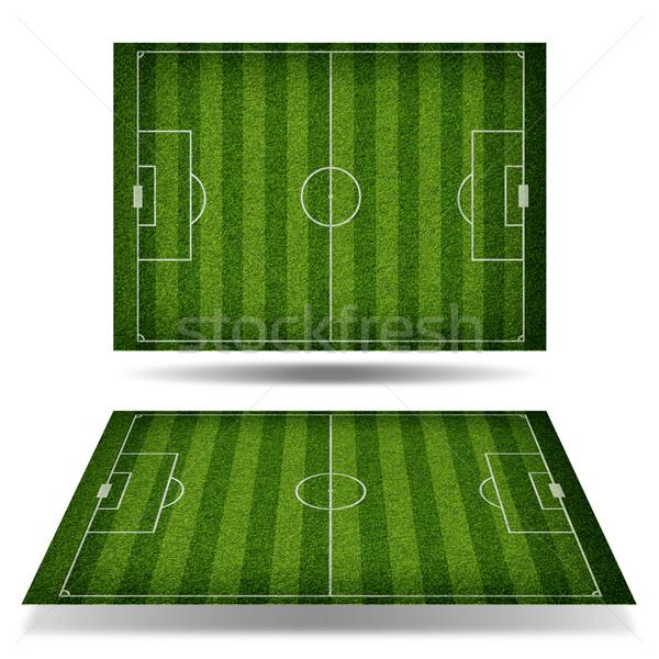 üres futballpálya felülnézet sportok fű futball Stock fotó © cherezoff