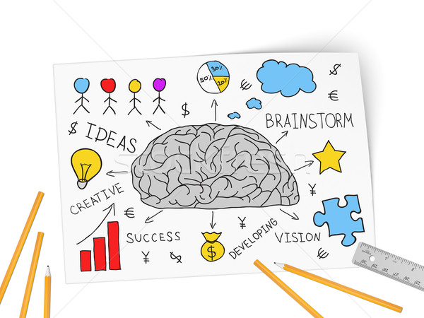 Collage expressing concept of business success Stock photo © cherezoff