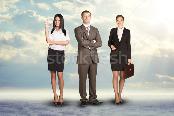 Chef d'équipe regarder caméra résumé homme Photo stock © cherezoff
