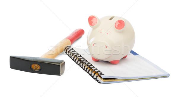 Piggy bank with hammer  Stock photo © cherezoff