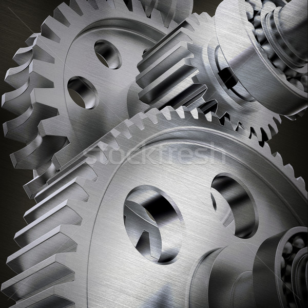 Cog gears joining together Stock photo © cherezoff
